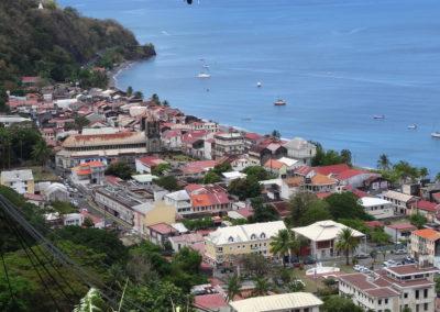 Saint-Pierre- Martinique - Cathédrale du Mouillage - Vue d'ensemble sur la baie