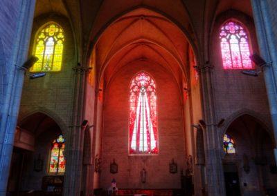 Romilly-sur-Seine - Eglise St-Martin - Création de vitraux par Joël Mône réalisé par l'atelier Vitrail Saint-Georges - Transept Sud