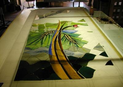 Barbizon, cité des peintres - Vitraux création d'Yvette Fringant
